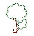 pixel tree vector image vector image