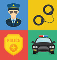Police design vector image vector image