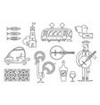 portugal icon set simple modern symbols vector image vector image