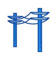 power line icon vector image vector image