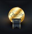 premium quality guarantee golden label design vector image vector image