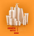 realistic cosmetic bottle vector image vector image
