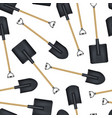 realistic detailed 3d black blank shovel template vector image vector image