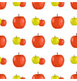 red and green apples seamless pattern tasty fruits vector image vector image