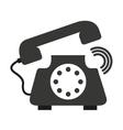retro phone isolated icon design vector image vector image