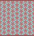 seamless floral pattern with red flowers on mint vector image