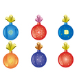set of christmas-tree decoration vector image vector image