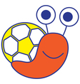 Soccer Snail vector image vector image