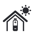 solar energy home icon vector image vector image