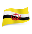 State flag of Brunei vector image vector image