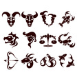 stylish set of zodiac signs vector image vector image