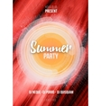 Summer party poster with abstract background vector image vector image
