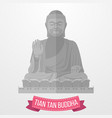 tian tan buddha icon on white background vector image vector image