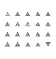 triangle icons vector image