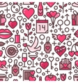 Valentines Day Love seamless pattern vector image