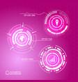virtual futuristic infographic concept vector image vector image