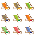Beach chair Colorful Beach chair isolated on white vector image