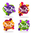collection of bright stickers emblems and vector image