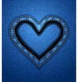 Jeans heart frame vector image