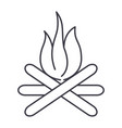 bonfire line icon sign on vector image