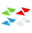 isometric paper planes icon set in simple flat vector image
