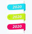 2020 new year labels vector image vector image