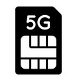 5g sim card icon information for service vector image vector image