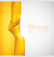 abstract background with yellow ribbon vector image vector image