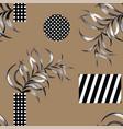 abstract geometric figure seamless pattern black vector image