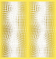 abstract halftone gold dots vertical seamless vector image