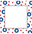 american abstract star flag festive frame vector image