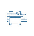architectural supervision line icon concept vector image vector image