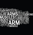 arm exercise text background word cloud concept vector image