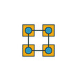 blockchain icon set four elements in diferent vector image vector image