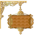 Board forged gold ornament for posts vector image