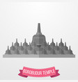 borobudur temple icon on white background vector image vector image