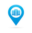 building map pointer icon marker gps location vector image vector image