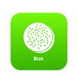 bun icon green vector image