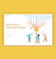 business idea brainstorming concept landing page vector image vector image