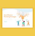 Business idea brainstorming concept landing page
