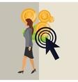 Businesswoman design Corporate concept Strategy vector image