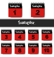 calendar for september in grunge style vector image