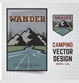 camping adventure travel brochure vector image vector image
