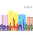 caracas v2 skyline pop vector image vector image