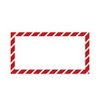 christmas or new year frame with striped candy vector image