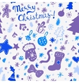 Christmas wallpaper - winter holidays pattern with vector image