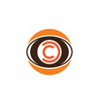 circle eye camera photography logo vector image