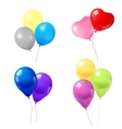 Colorful balloons icons composition vector image vector image