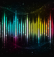 colorful equalizer background vector image vector image