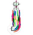 Colorful Font - Letter j vector image vector image